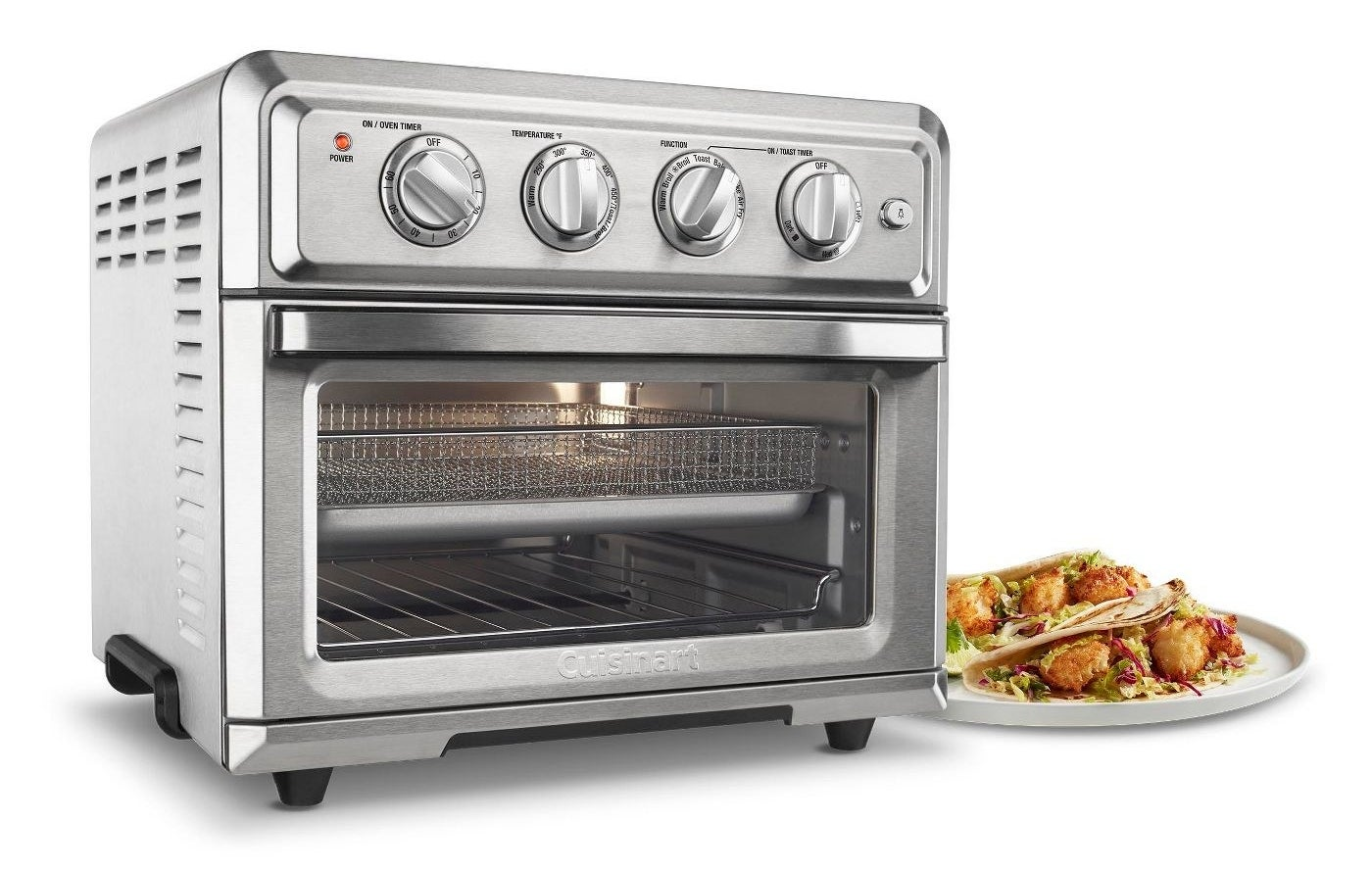 The toaster oven and air fryer