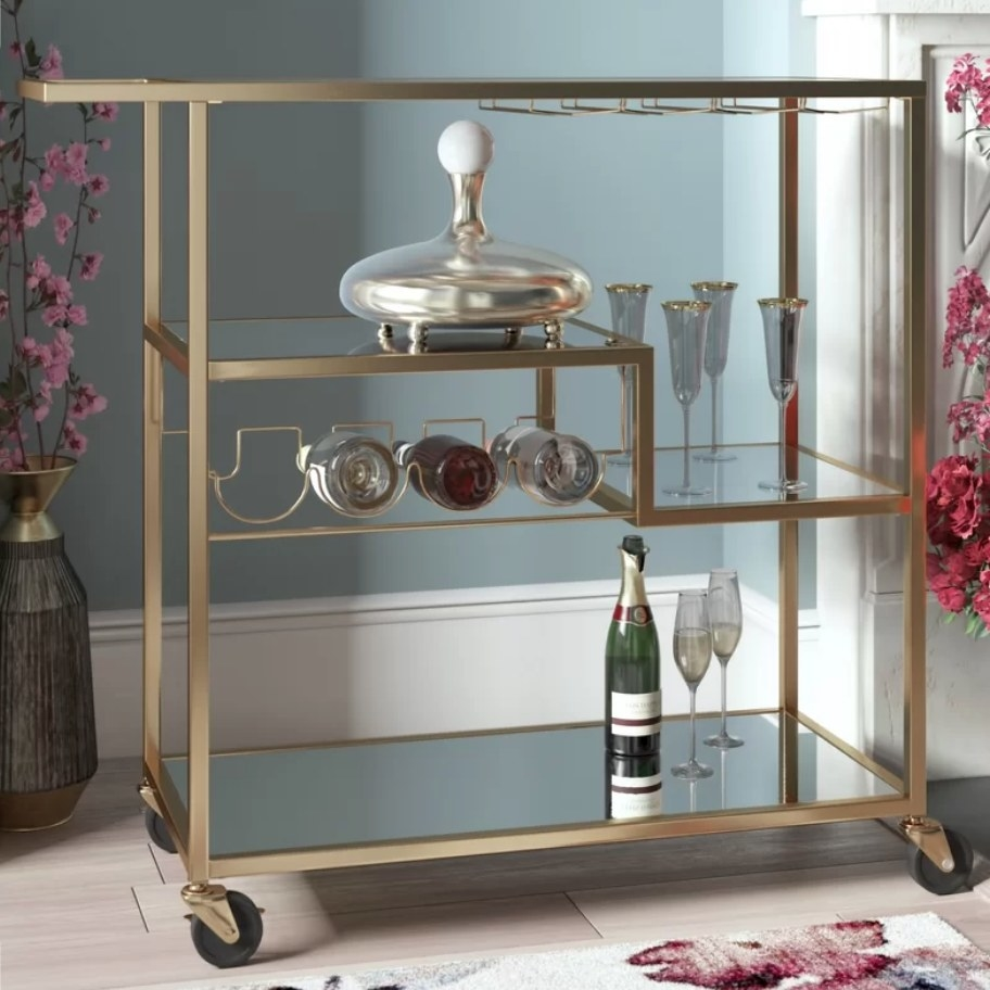Bronze bar cart