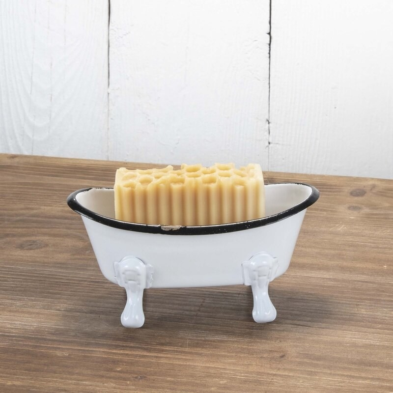 Decorative soap holder with soap inside