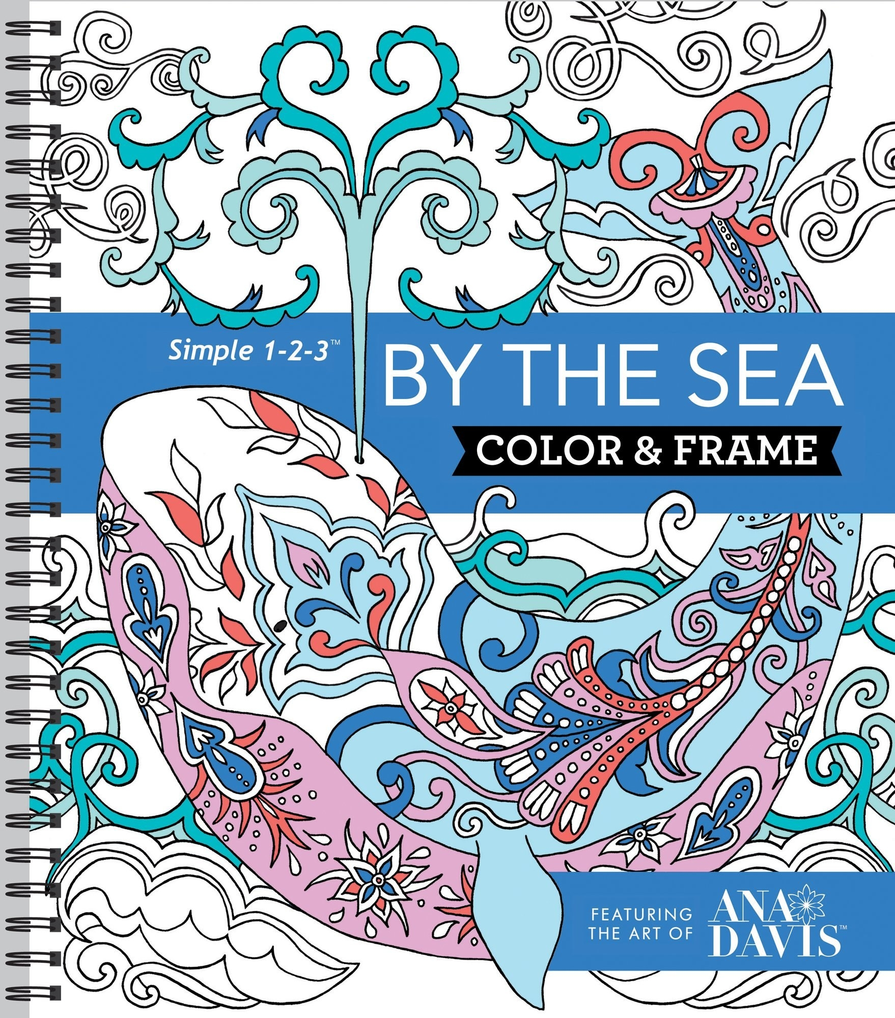 The cover of a marine-themed colouring book