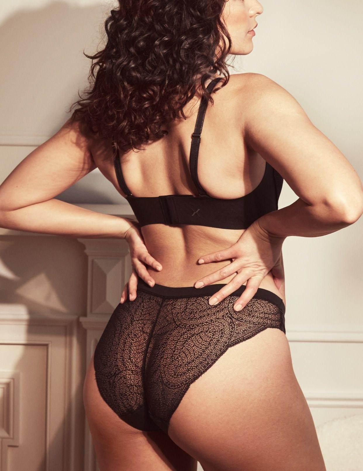 the lace leak-proof panties in black