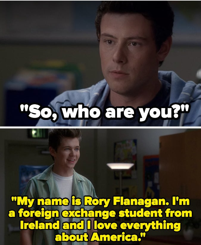 "Finn and Rory from ""Glee"""