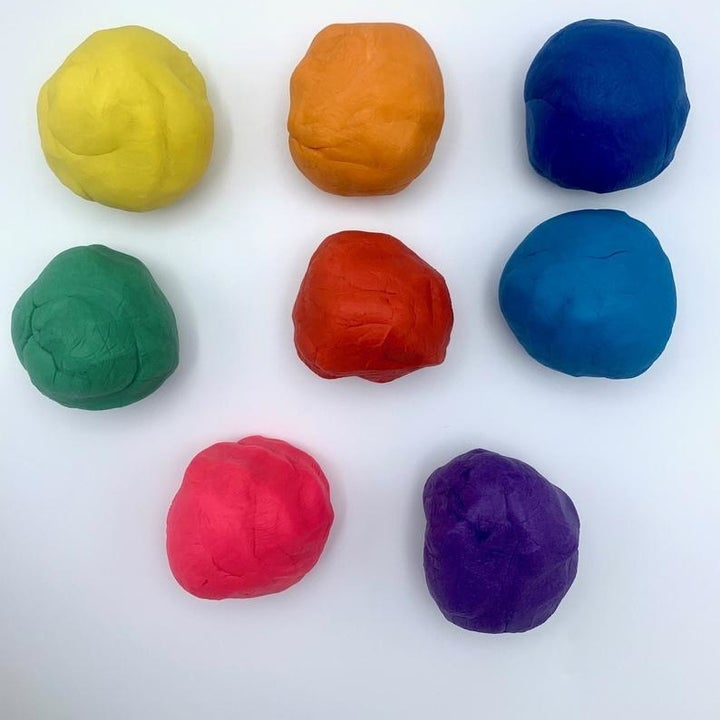 Different colors of stress therapy dough in balls