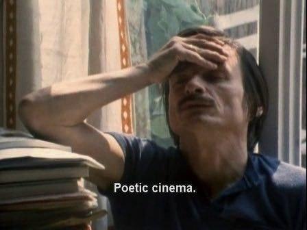 """Poetic cinema"" reaction meme"