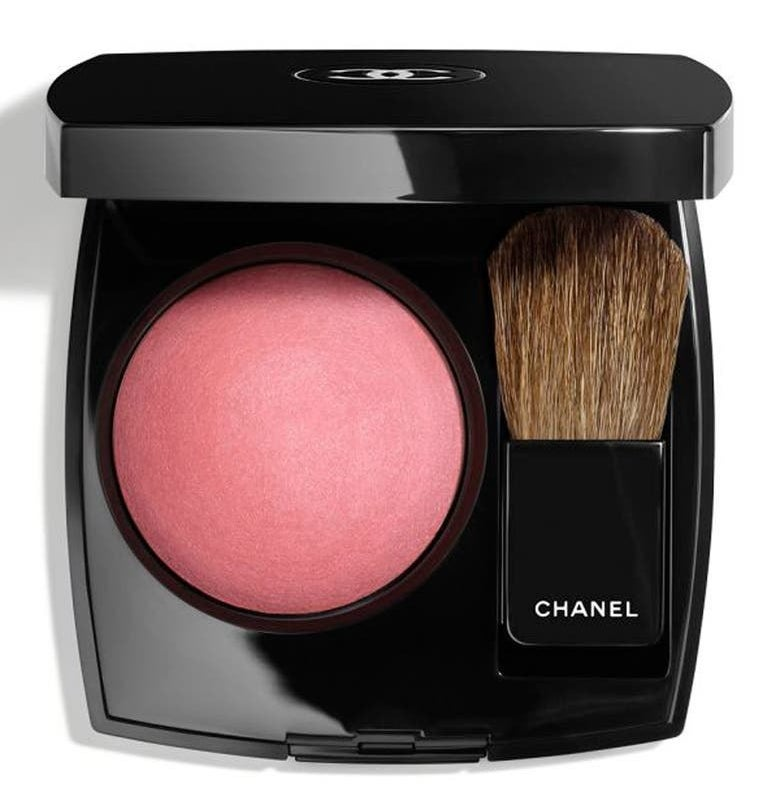 The blush in Rosewood in a compact with brush