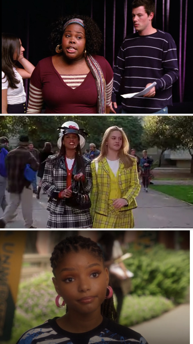 "Mercedes from ""Glee,"" Dionne from ""Clueless,"" and Sky from ""Grown-ish"""