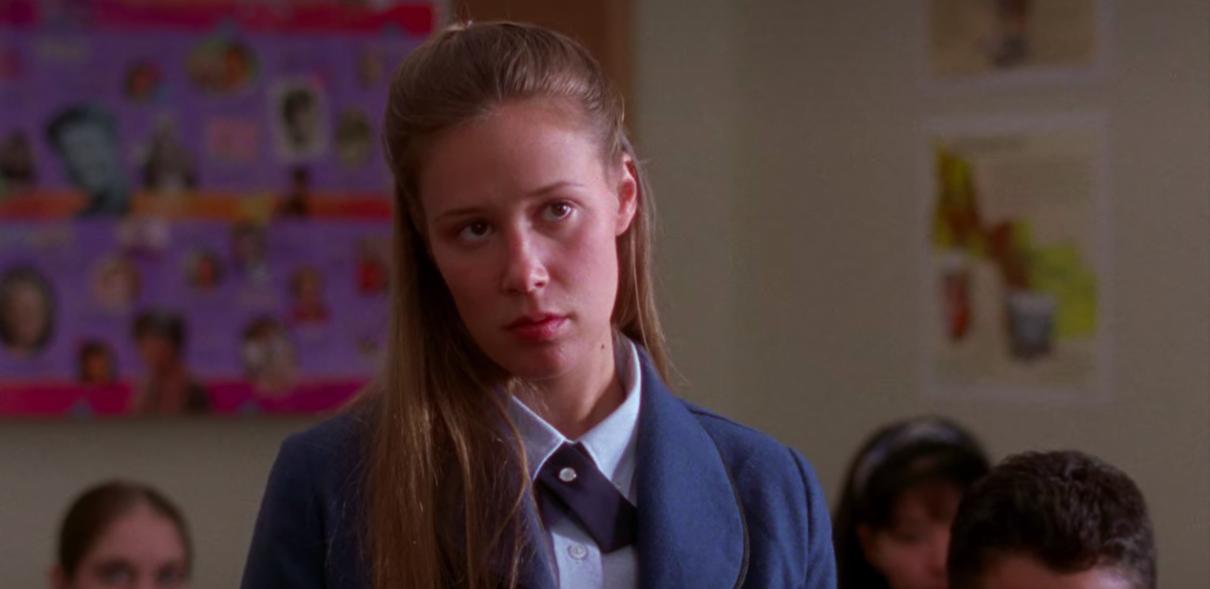 "Paris standing in front of class in ""Gilmore Girls"""