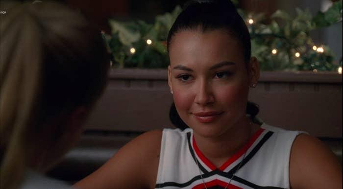 "Santana having dinner with Brittany in ""Glee"""