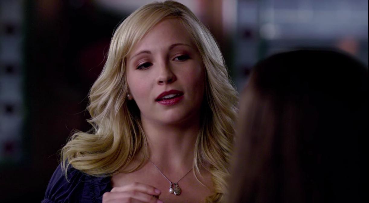 "Caroline talking to Bonnie in ""The Vampire Diaries"""