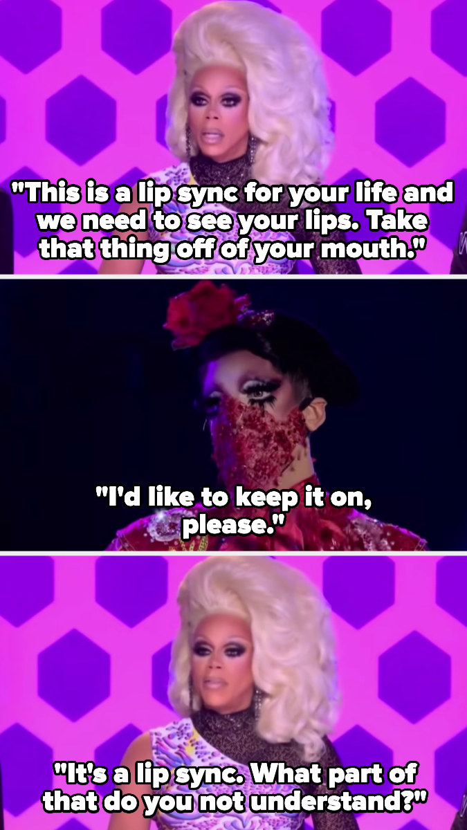 Valentina refuses to take her mask off for a lip sync for your life