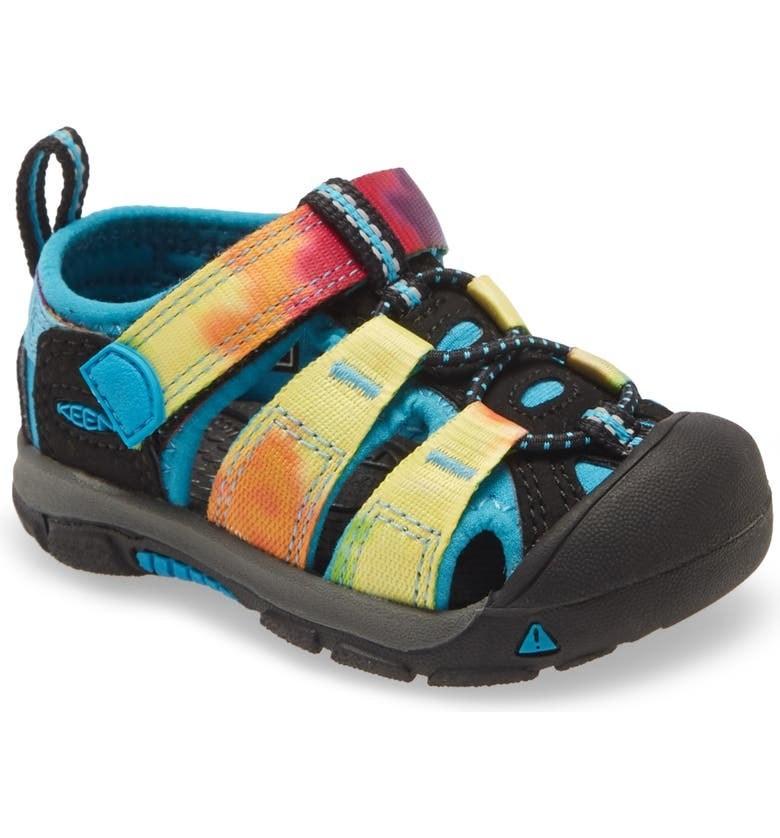 The sandal in Rainbow Tie-Die
