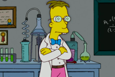 "Professor Frink on ""The Simpsons"""