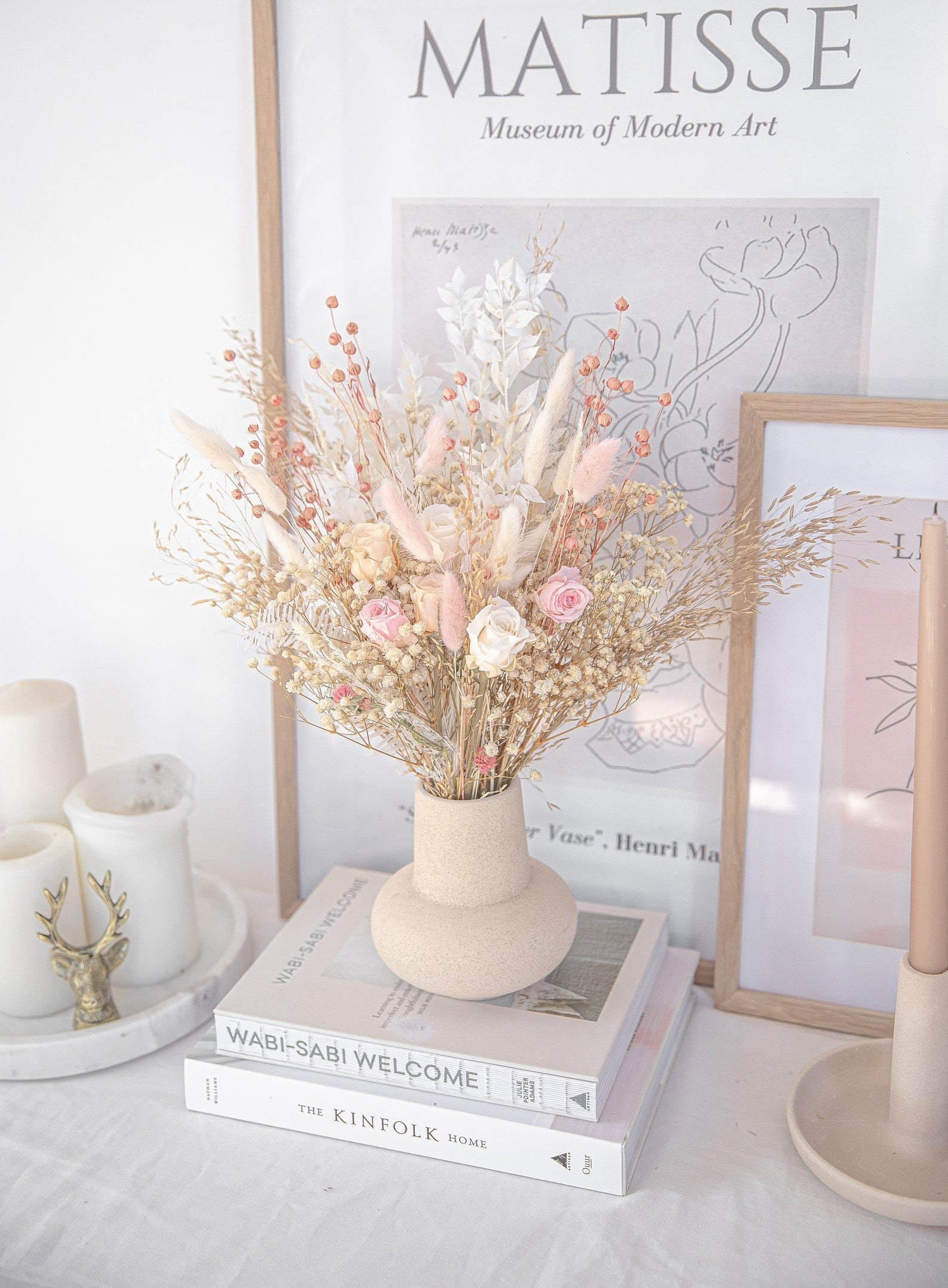 the bouquet in a vase