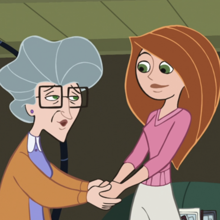 Kim and her Nana holding hands
