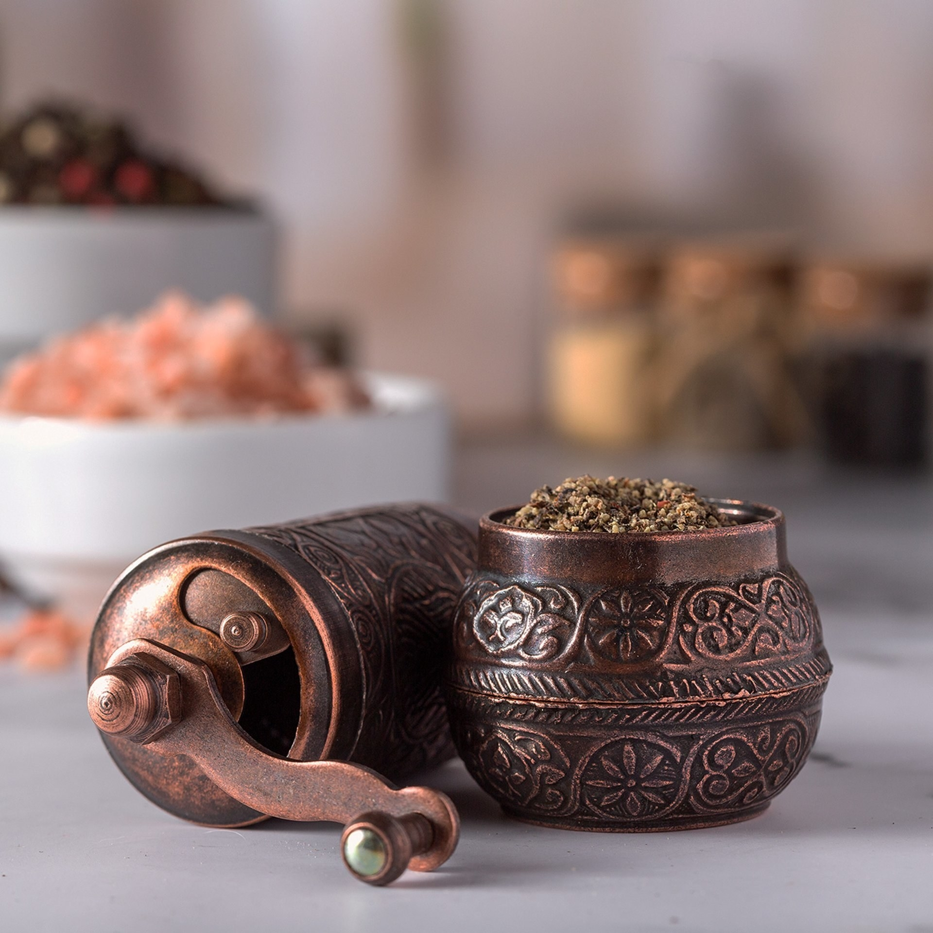 the black pepper and spice grinder