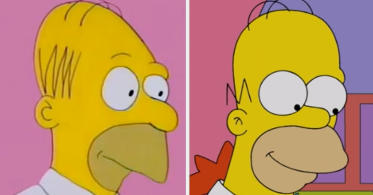 """What """"The Simpsons"""" Looked Like In The Beginning Vs. Today"""