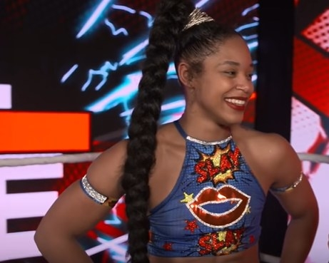 Bianca Belair smiling