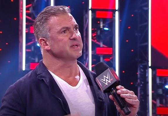 Shane McMahon speaking on WWE microphone