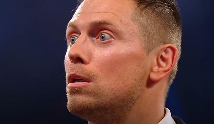The Miz appearing dumbfounded