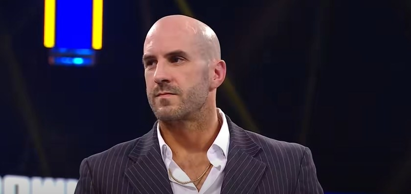 Cesaro in a suit