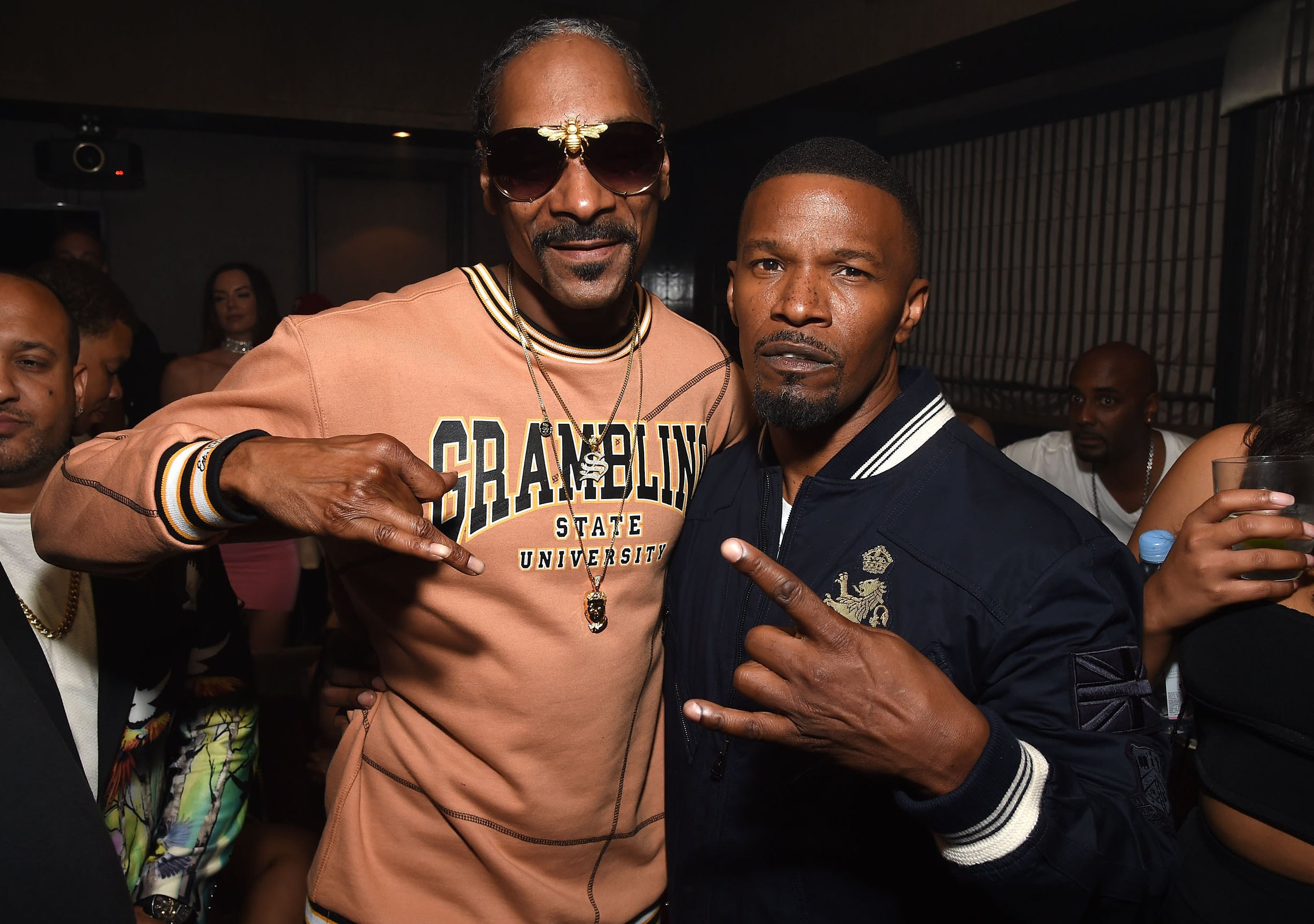 Jamie and Snoop pose together