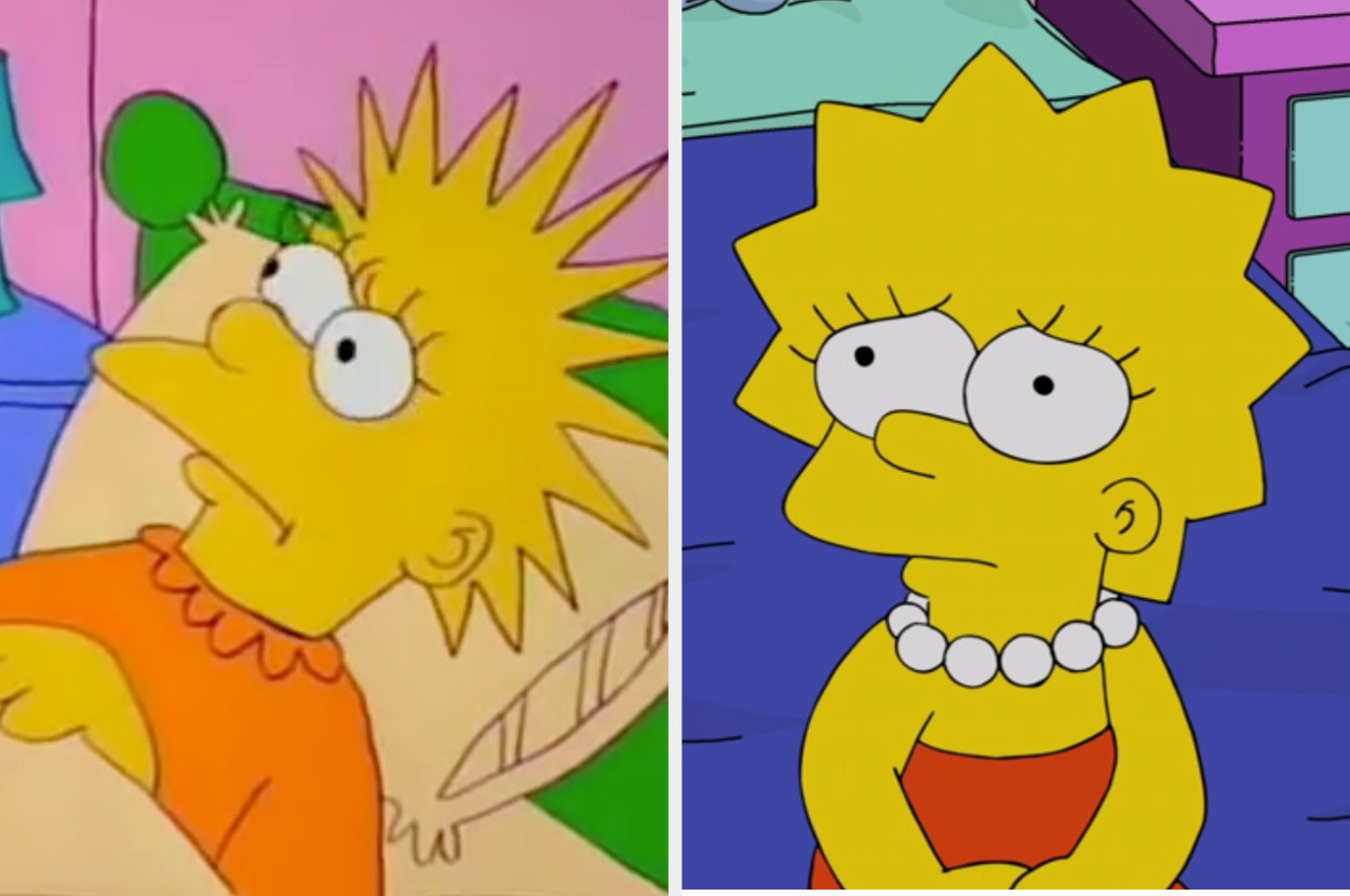 Lisa with really long spiky hair vs Lisa with shorter spiky hair and a white necklace