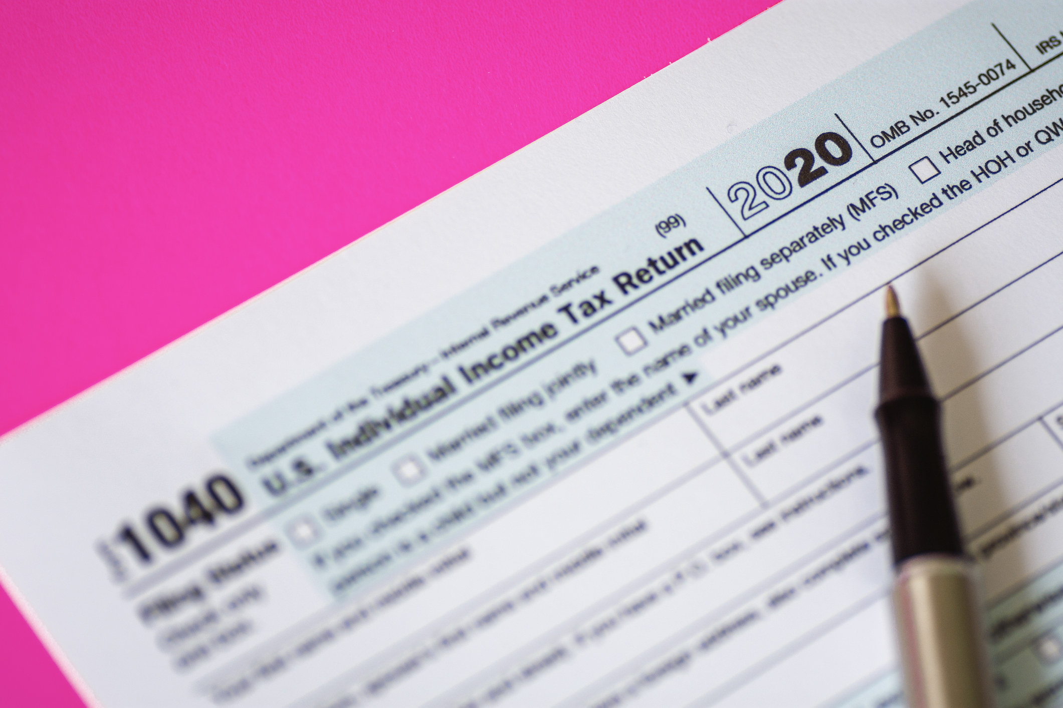 Tax Form 1040 for 2020