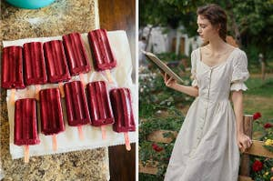 left ice pops, right, dress