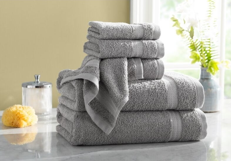 The towels in gray