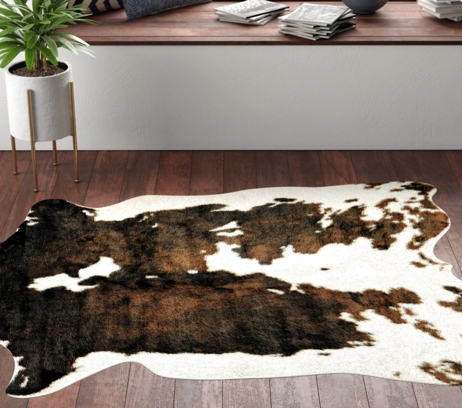 The cowhide rug