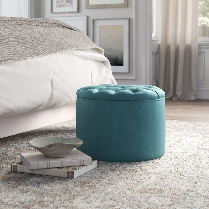 Ottoman in living room