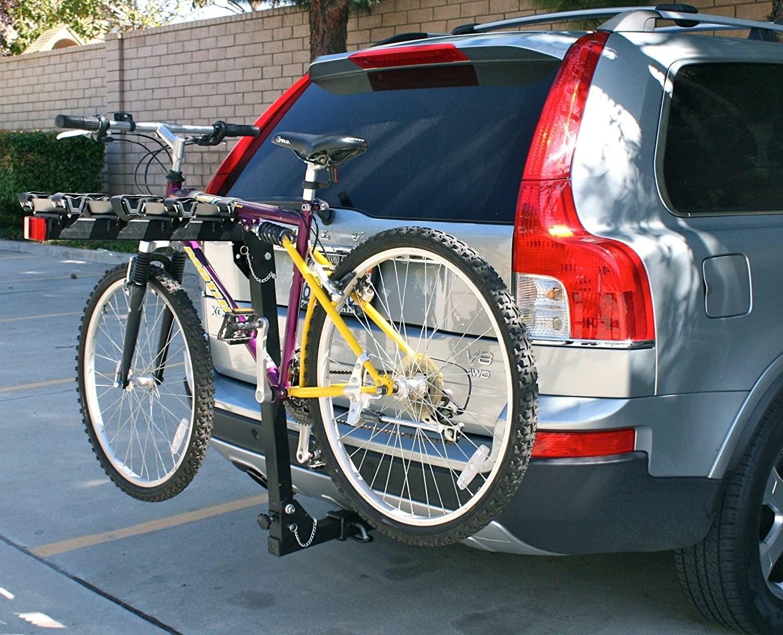 a bike on the rack