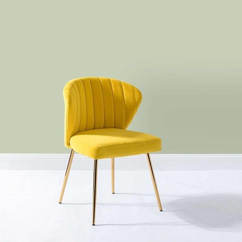 Accent chair in living room