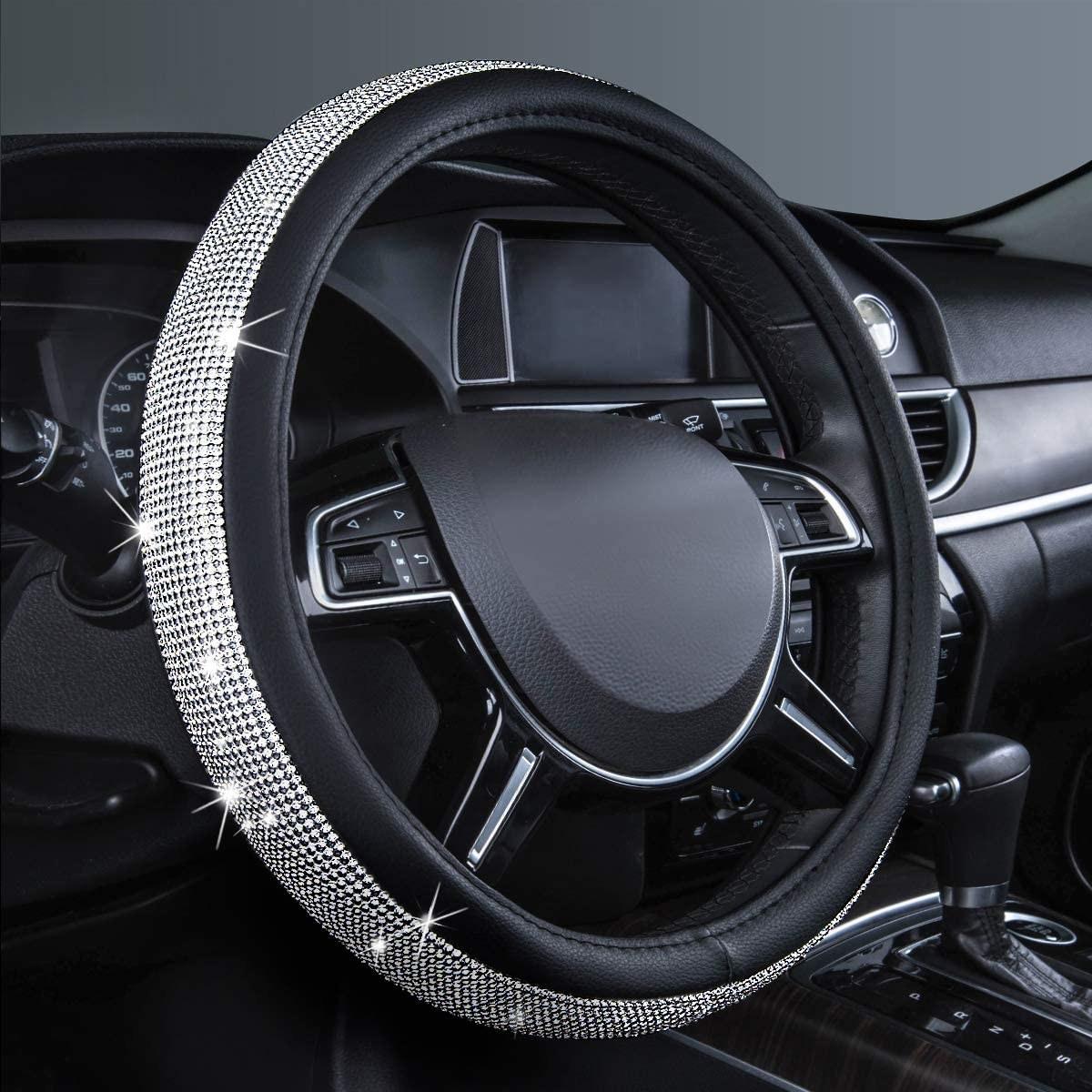 the steering wheel cover on a steering wheel