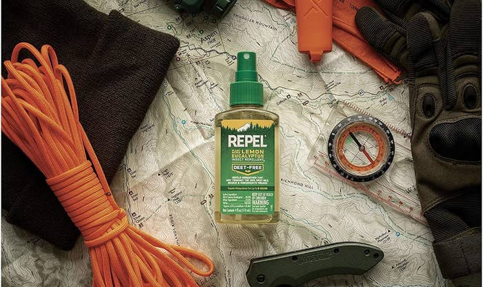 bottle of insect repellent spray