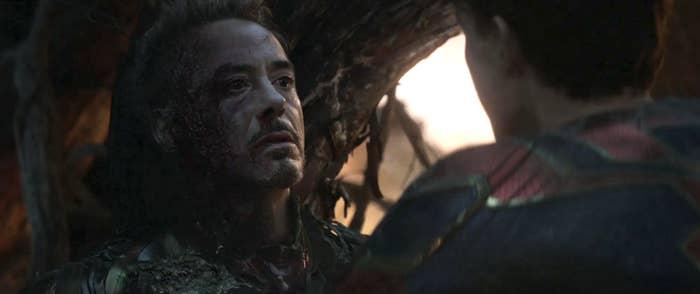 Tony Stark's last scene