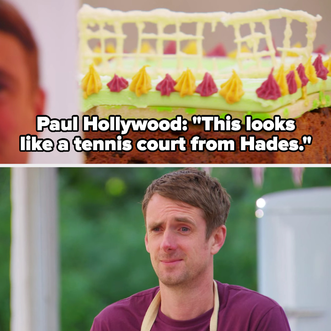 Paul compares a cake designed to look like a tennis court to something from hell