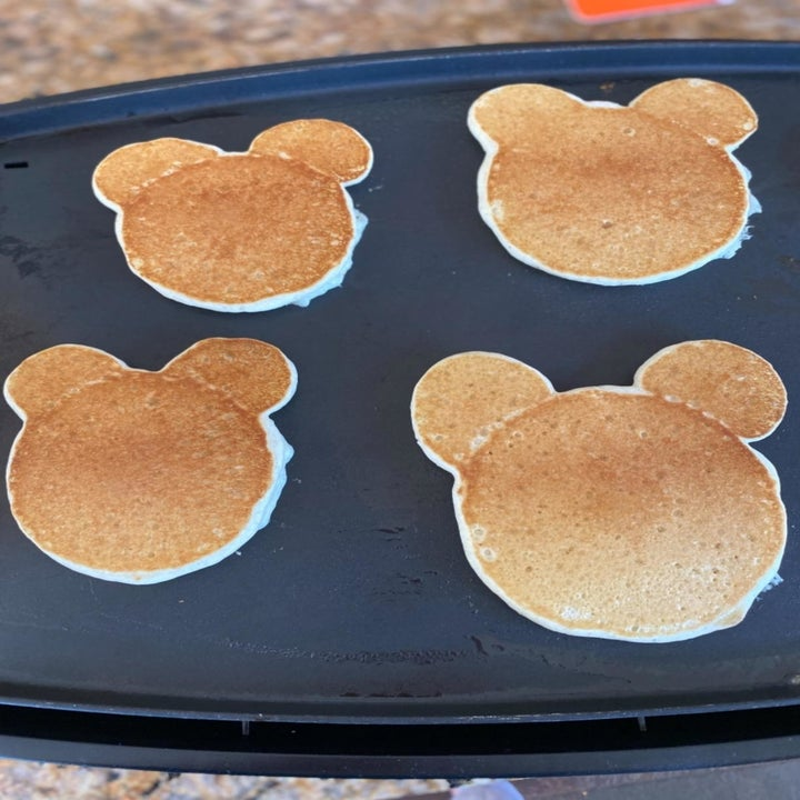 Reviewer photo of their Mickey Mouse pancakes