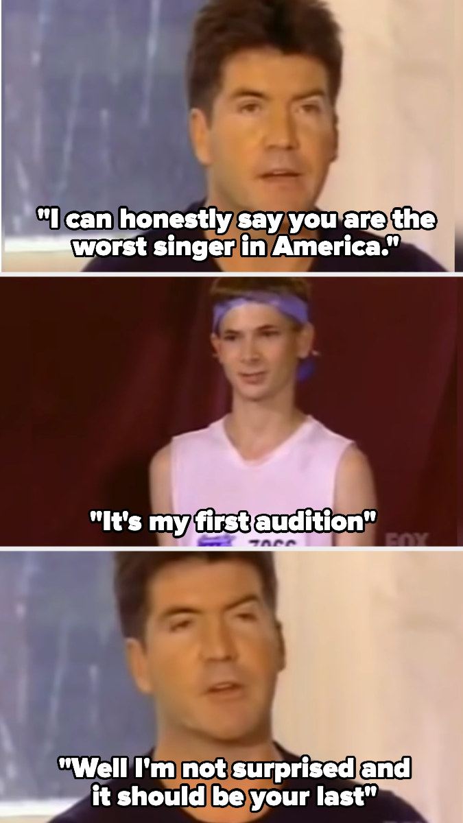 Simon insults a singer at his first audition