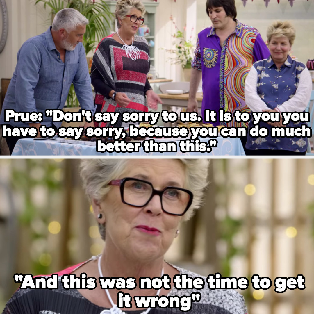 Prue chides a baker for making basic mistakes