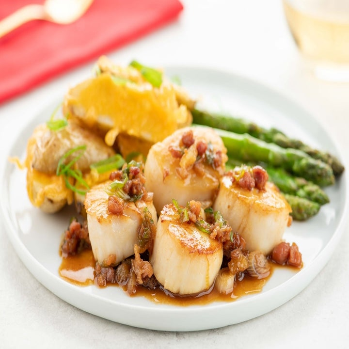 Brown Sugar and Bacon-Glazed Scallops
