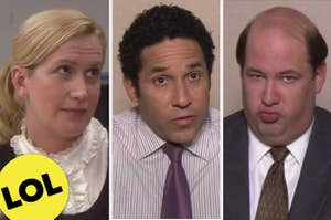 Angela on the left, oscar in the midde, and kevin on the right