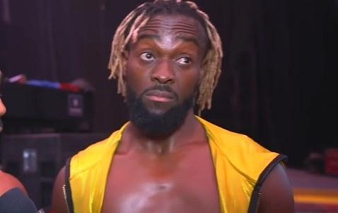 Kofi Kingston looking off-camera
