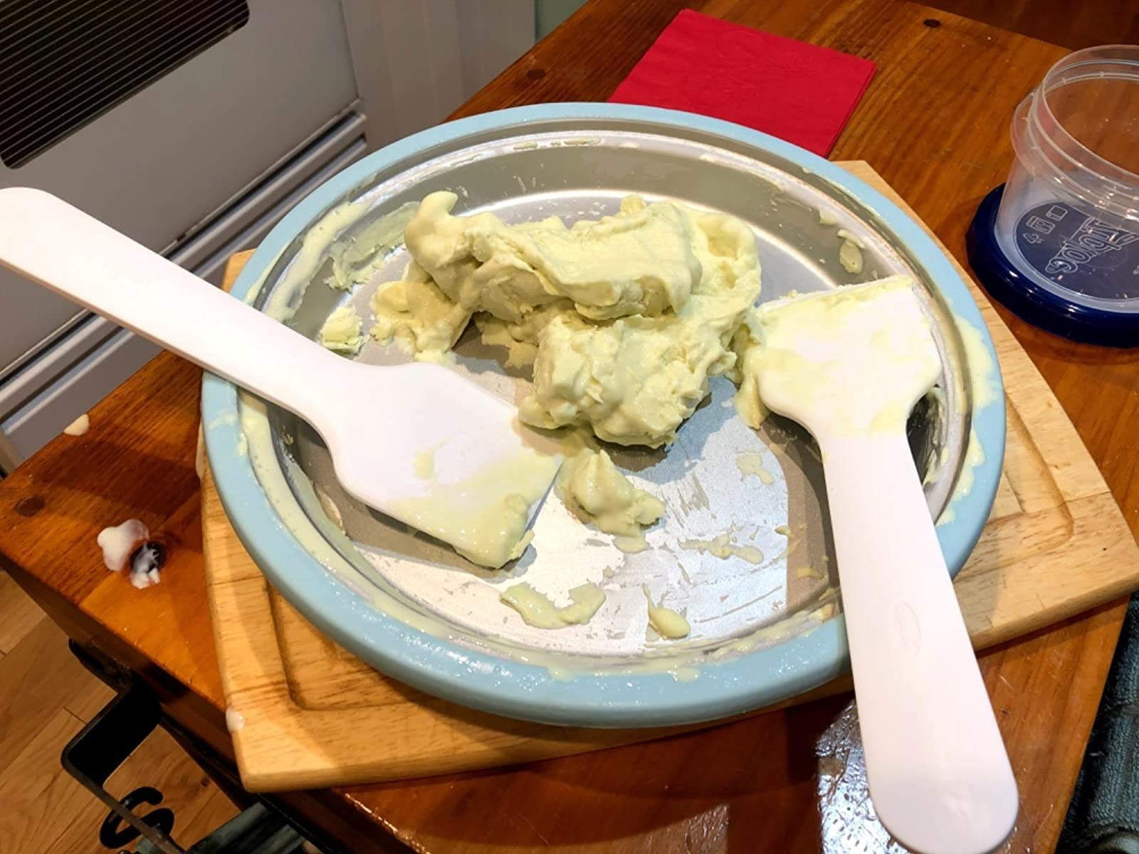 reviewer image of homemade ice cream scraped off of the chef'n sweet ice cream maker