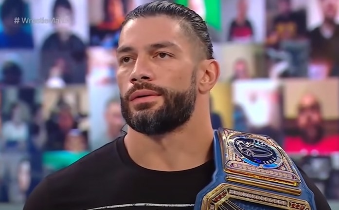Roman Reigns looking annoyed