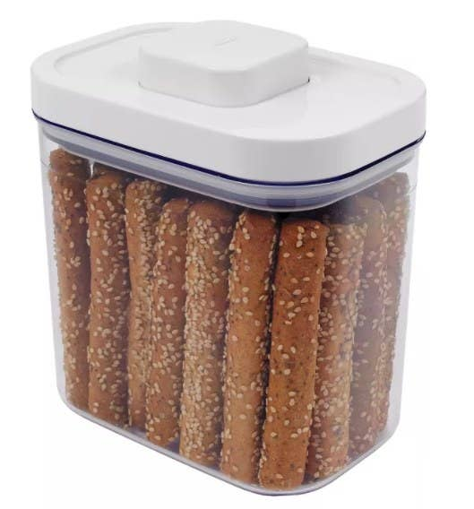 A BPA-free storage container (1.7 quart capacity) that stores everything from coffee to rice to sugar