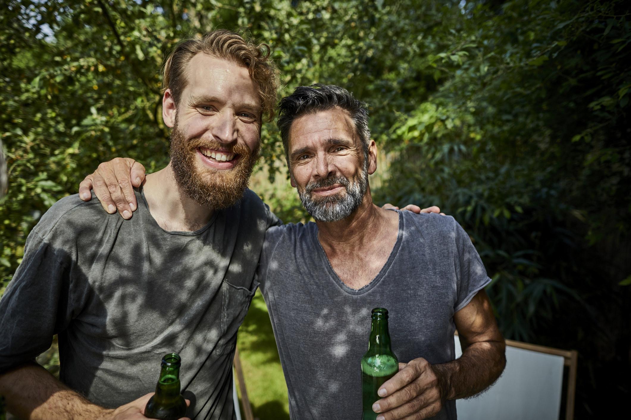 stock image of men friends