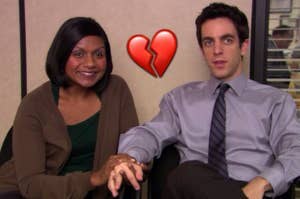 ryan and kelly with a broken heart emoji in between them