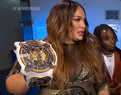 Nia Jax holding Women's Tag Title
