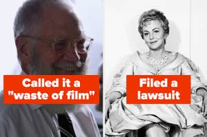 David Letterman and Olivia de Havilland, both of whom hated their fictional counterparts